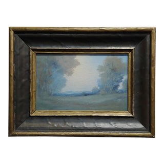 Edward Diers 1921 Rookwood Vellum Plaque Landscape W/Original Frame For Sale