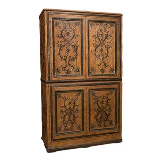 Italian Four Door Painted Armoire For Sale