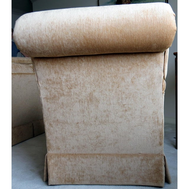King Hickory Furniture Gold Fabric Chair - Image 4 of 5