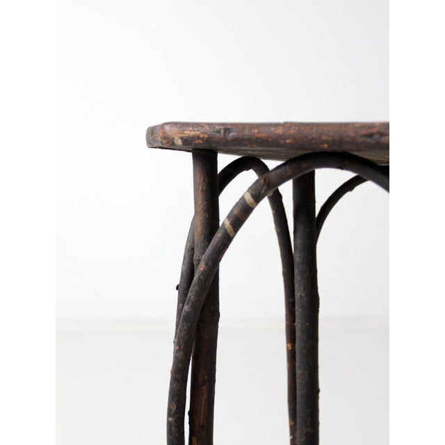 Early 20th Century Antique Adirondack Twig Table For Sale - Image 5 of 11