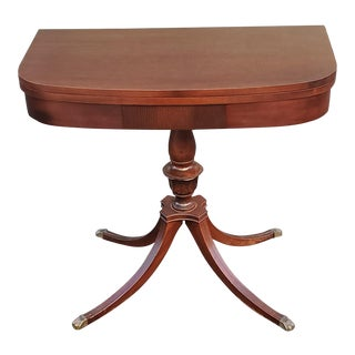 Neoclassic Duncan Phyfe Mahogany Game Table For Sale