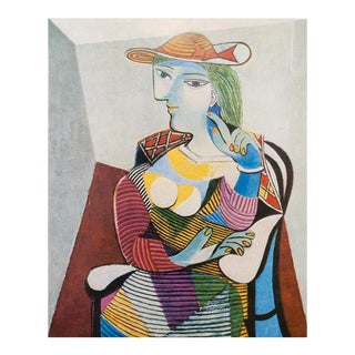 1971 Parisian Picasso Femme Assise Photogravure Print