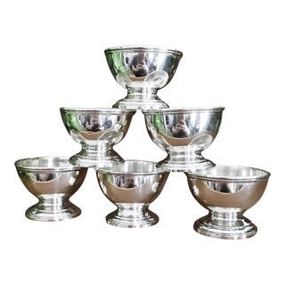 Antique Tiffany & Co. Sterling Silver Salt Cellars - Set of 6 For Sale