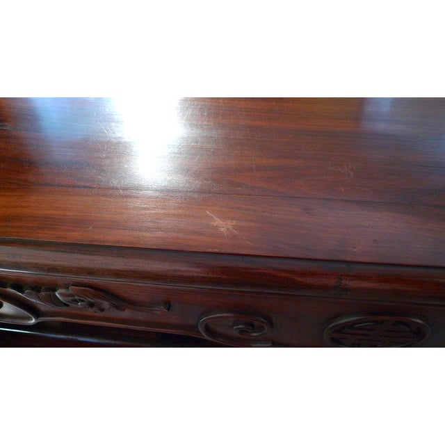 Early 20th Century Chinese Carved Rosewood Long Low Opium Coffee Table For Sale - Image 12 of 13