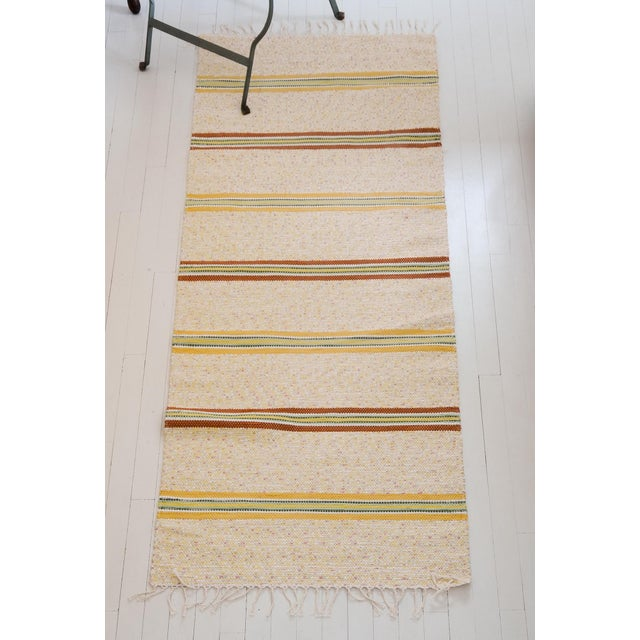 Swedish Handwoven Rug- 2′5″ × 6′10″ For Sale - Image 4 of 5