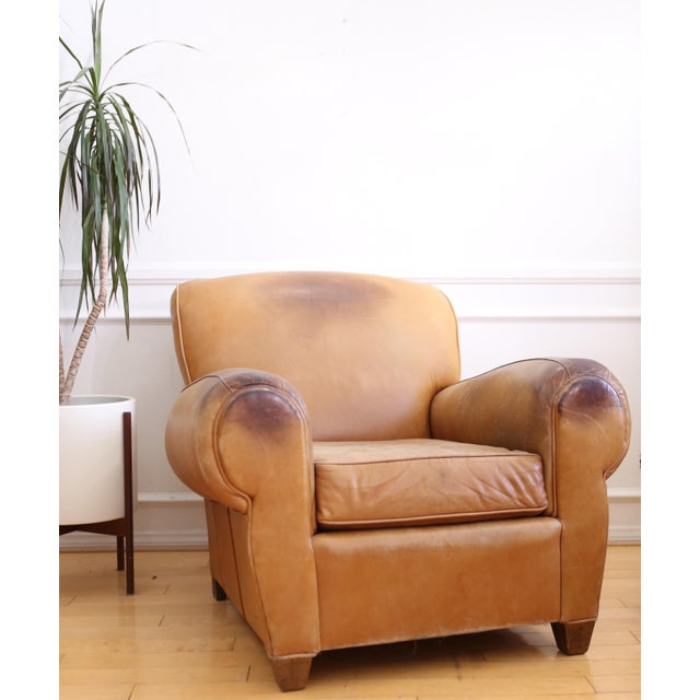 Original Vintage Leather Club Chair For Sale - Image 11 of 11