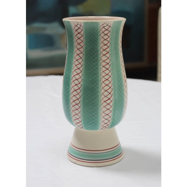 Mid-Century Modern Poole Pottery Vase For Sale - Image 9 of 11