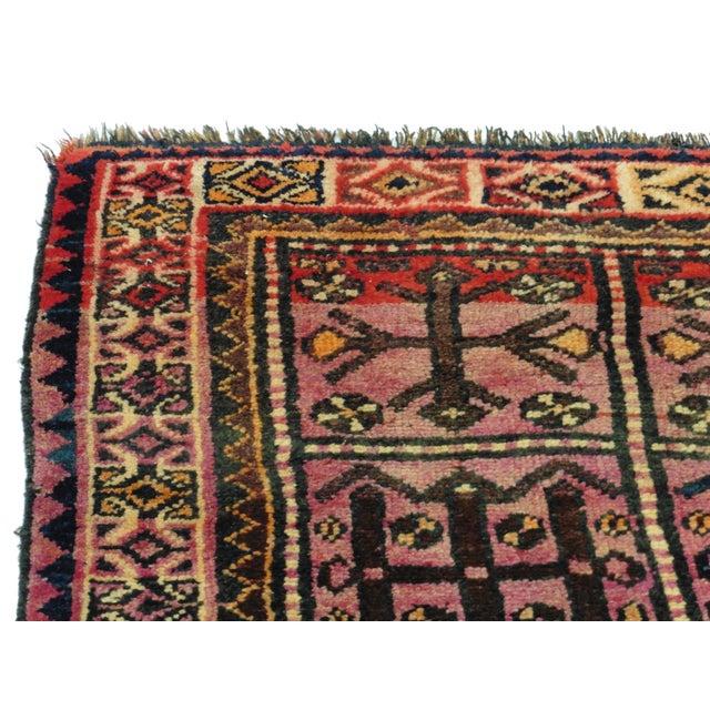 Vintage Persian Hamedan Wool Rug - 4′2″ × 7′7″ - Image 3 of 5