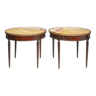 Pair of Louis XVI Style Bouillotte Tables For Sale