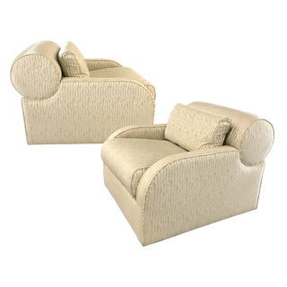 Vintage Swivel Lounge Chairs by Preview For Sale