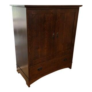 1990s Mission Stickley Oak Cabinet
