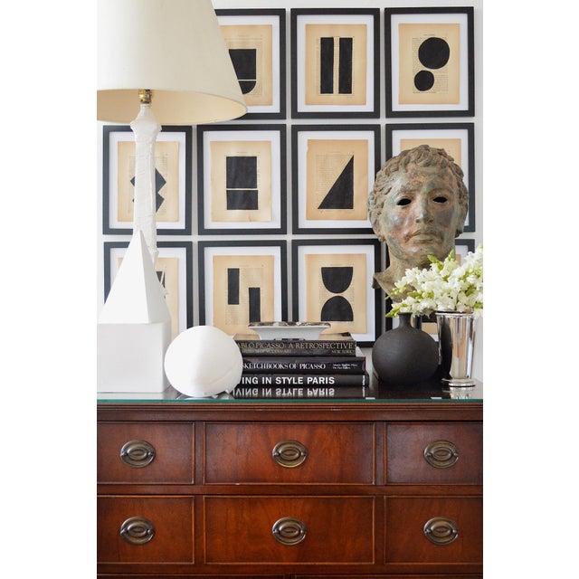Josh Young Design House Noir Géométrique Collection Paintings, 12 Pieces For Sale - Image 4 of 6