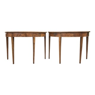 19th Century English Mahogany D Ends Tables - a Pair