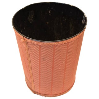 1970s Contemporary Chevron Wastebasket For Sale