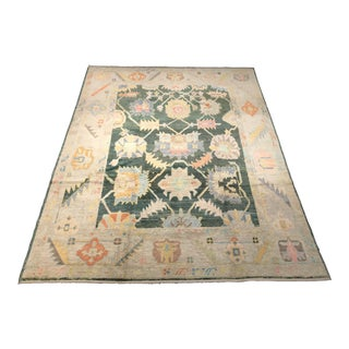 "Bellwether Rugs ""Herbie"" Colorful Oushak Rug - 9′ × 11′9″ For Sale"