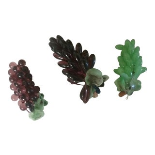 Italian Glass Grape Clusters - Set of 3 For Sale