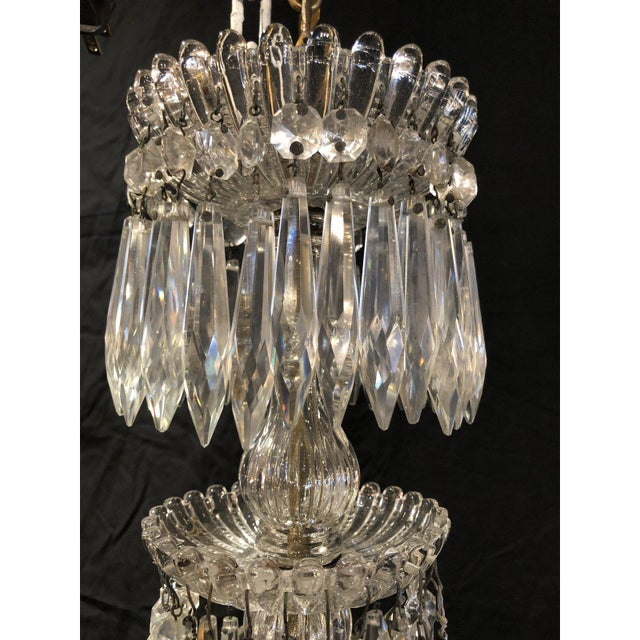 Glass French Napoleon III Signed Portieux Crystal Chandelier For Sale - Image 7 of 9
