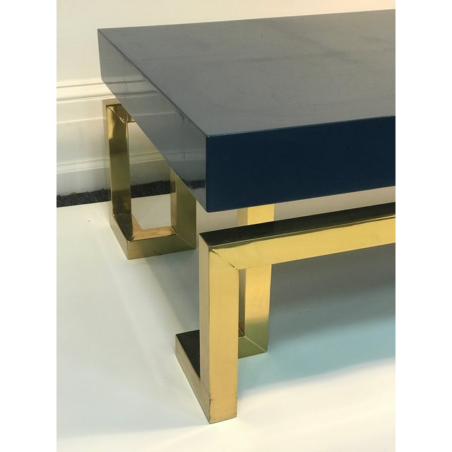 Exceptional Italian Coffee Table with Greek Key Design For Sale - Image 4 of 10