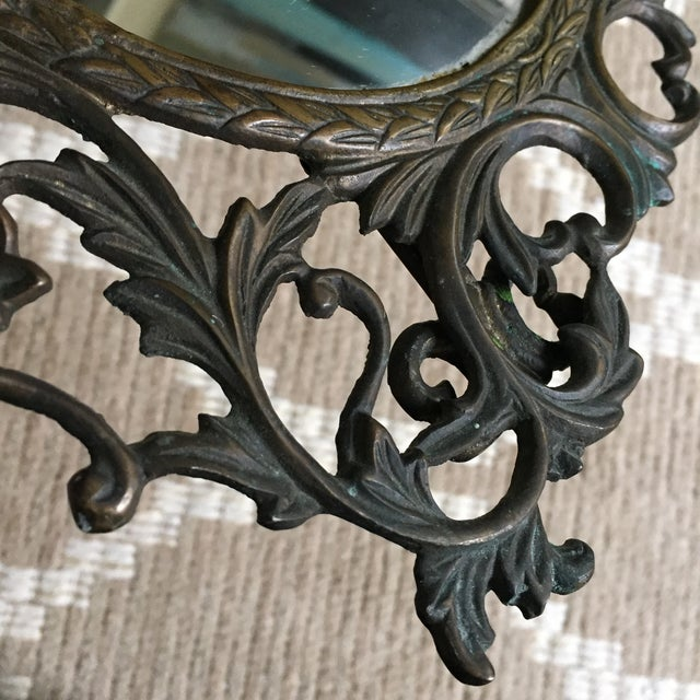 Silvestri Brass Table Mirror - Image 7 of 10
