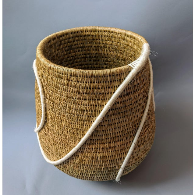 Swaziland Handwoven African Basket For Sale In Providence - Image 6 of 11