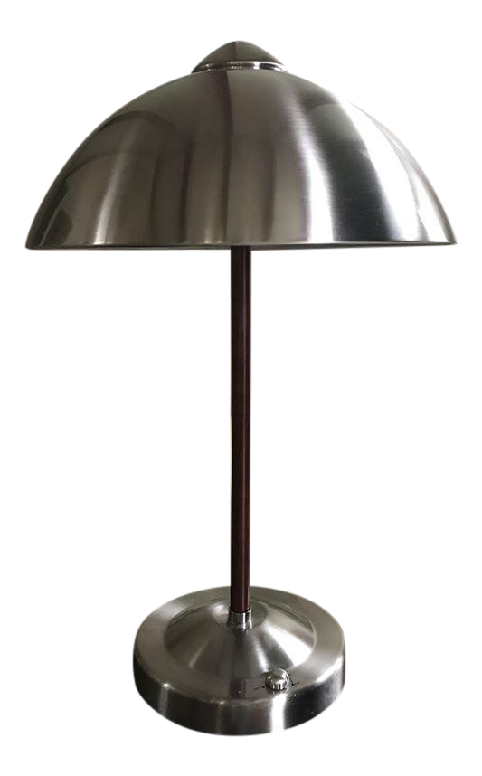 Vintage Silver Dome Lamp