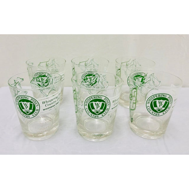 Stunning Vintage Mid Century Modern Hollywood Regency Style Golf Glasses. Lo Ball Tumbler Cups, Complete set of 6. Great...