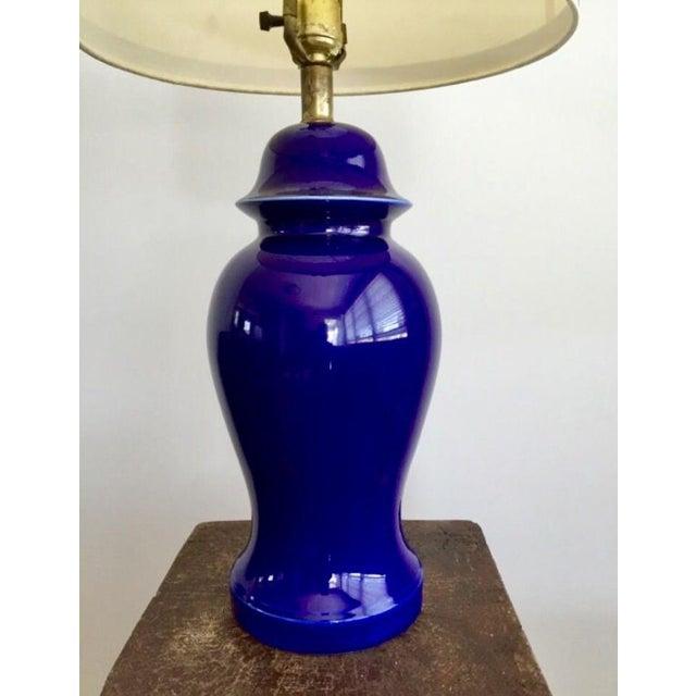 Vintage Blue Porcelain Table Lamp - Image 3 of 6