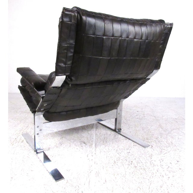 1970s Lounge Chair and Ottoman Attributed to Richard Hersberger For Sale - Image 5 of 13