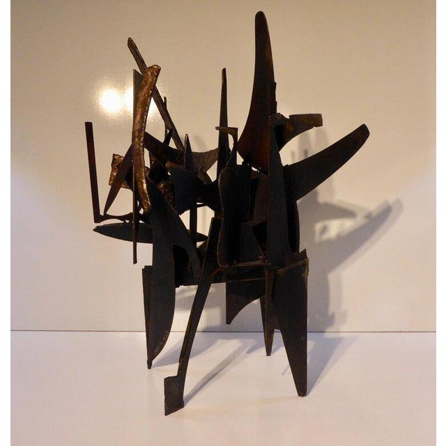 """2010s """"Four Corners"""" an Original Contemporary Steel and Bronze Sculpture by American Artist Joey Vaiasuso For Sale - Image 5 of 8"""