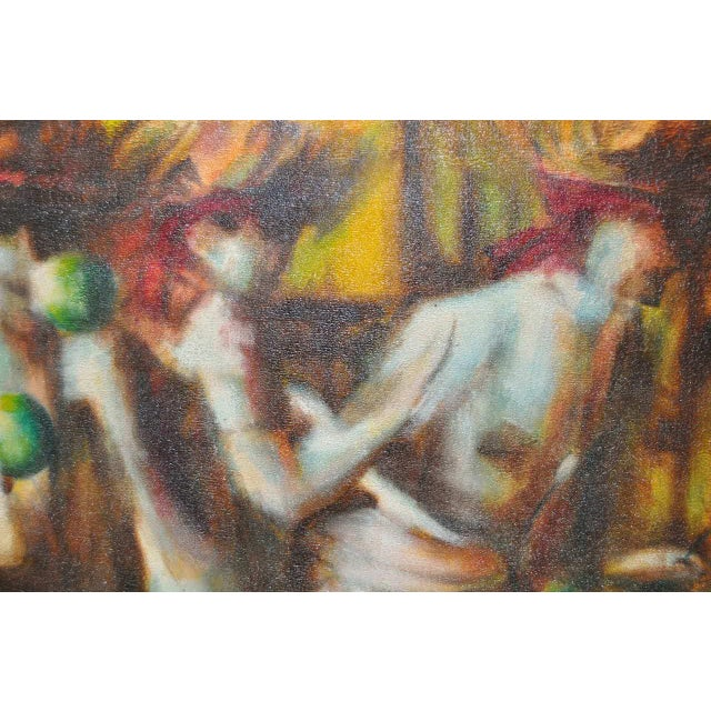 C.1970 Caribbean Mood Oil Painting by Reuben - Image 4 of 8
