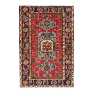 Vintage Persian Tribal Nahavand Animal Rug, 1970s - 4' x 6'