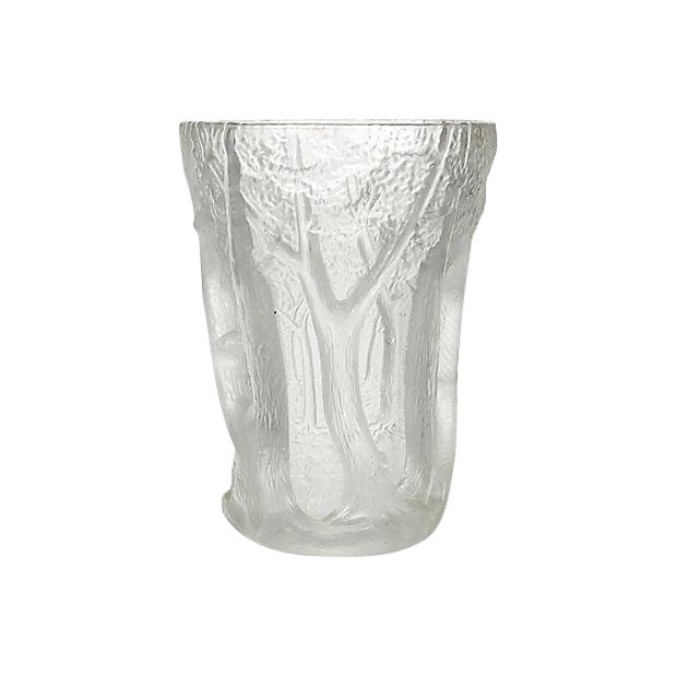 Czechoslovakian Frosted Glass Vase Chairish
