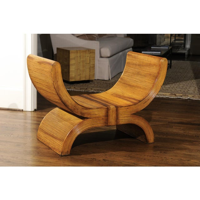 1980s Majestic Restored Rattan Emperors Seat by Betty Cobonpue, Circa 1980 For Sale - Image 5 of 13