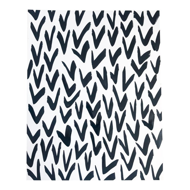 Contemporary Black and White Pattern Painting For Sale