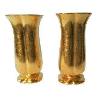 1940s Traditional Lustre Glazed Pickard Vases - a Pair For Sale