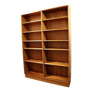 Mid-Century Danish Modern Poul Hundevad Teak Double Bookcase