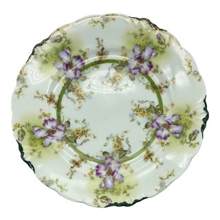 Antique Thomas & Co., J & C Malmaison Decorative Floral Plate For Sale
