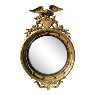 Early 19th Century Antique Federal Eagle Mirror For Sale