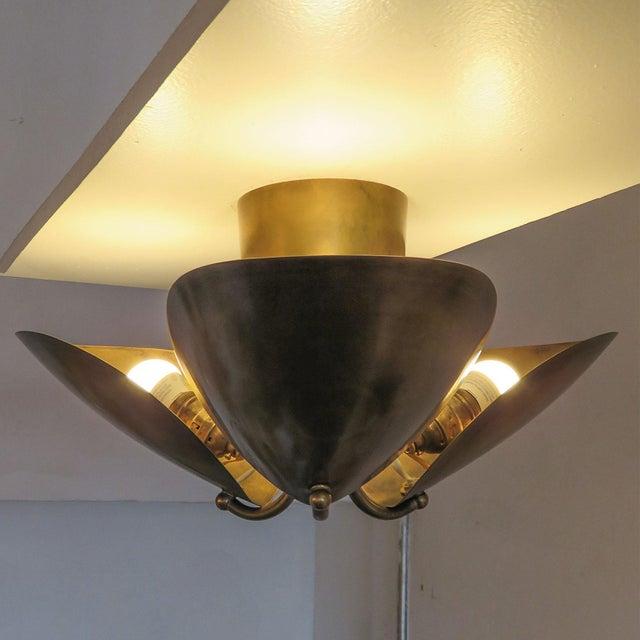 "Brass Brass Flush Mount ""Georgia"" For Sale - Image 8 of 11"