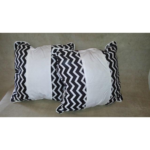 Daring Chevron Pillows - Pair - Image 4 of 4