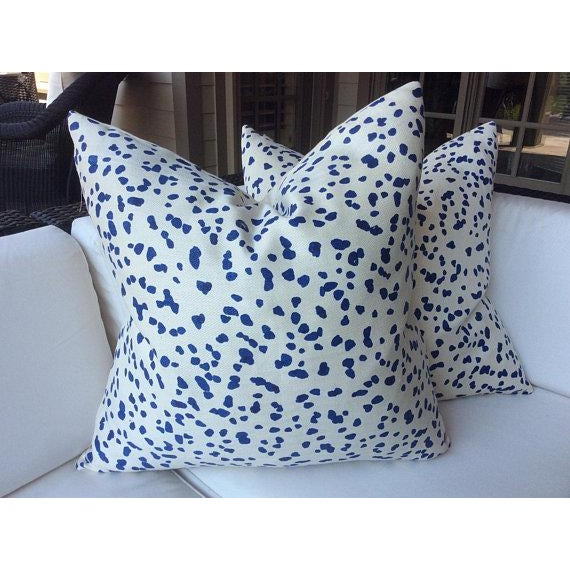 "Peter Fasano ""Double Dotty"" Cobalt Pillows - a Pair For Sale In Atlanta - Image 6 of 6"