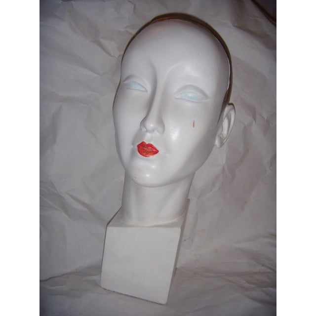 A great looking Art Deco style display mannequin head. This uber cool piece would look amazing displayed amongst your...