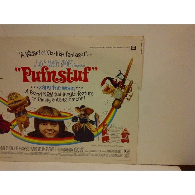 "Vintage Movie Poster ""Pufnstuf ... Zaps the World"" Jack Wild & Billie Hayes - 1970 For Sale - Image 4 of 5"