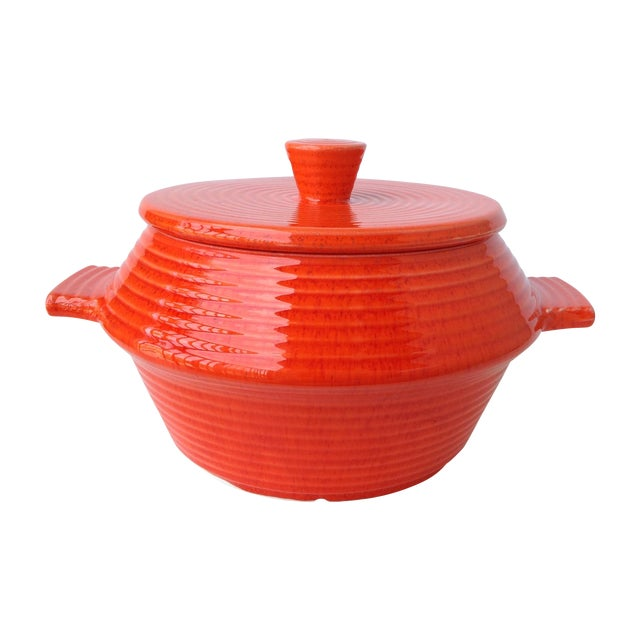 California Pottery Lidded Soup Tureen For Sale