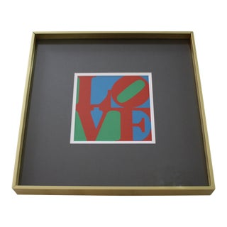 Framed Robert Indiana LOVE Screenprint MOMA Pop Art 1960s Christmas Card For Sale