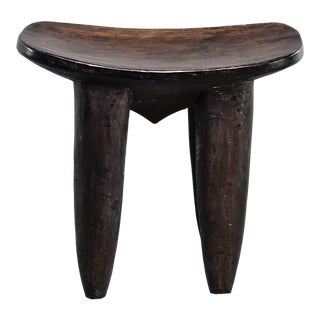 African Tribal Senufo Hand Carved Wooden Stool or Bench For Sale