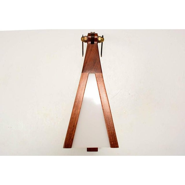 Wood Cocobolo & Walnut Wall Sconce For Sale - Image 7 of 10