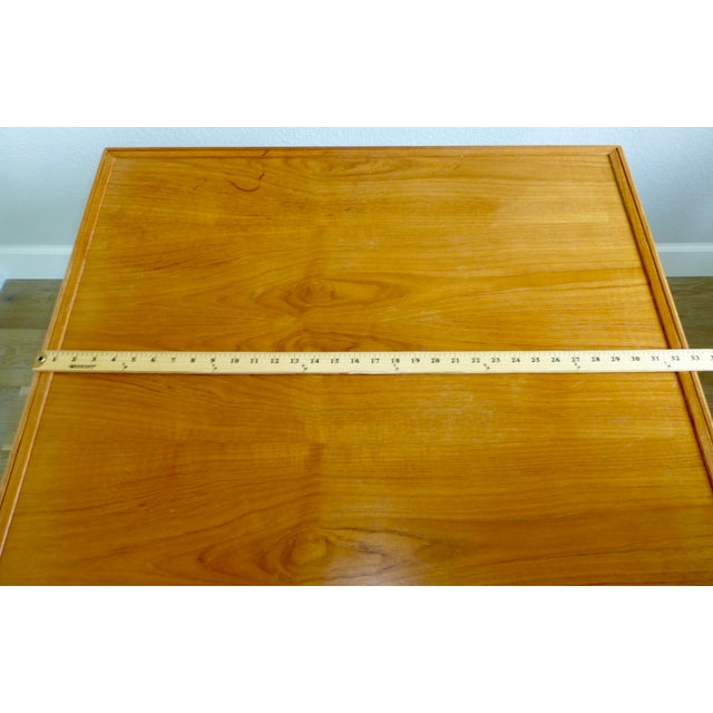 Mid Century Danish Modern Brdr Furbo Denmark Square Teak Game Table For Sale - Image 10 of 12
