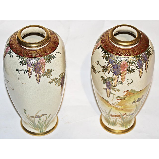 Japanese Vases - A Pair - Image 4 of 7