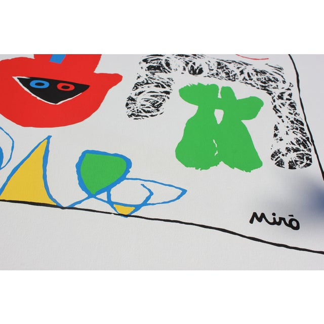 """""""Acrobats in the Night Garden"""" Print by Joan Miro For Sale In Madison - Image 6 of 8"""